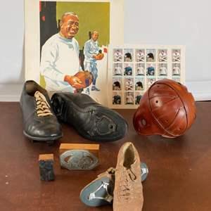 Lot # 105 - Vintage football memorabilia