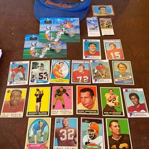 Lot # 107 - 1969 football trading cards and other memorabilia