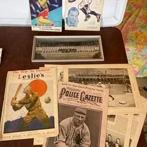 Lot # 109 - Antique newspaper and magazine sport illustrations