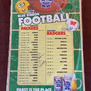 Lot # 111 - Green Bay Packers Lynn Dickie signed poster