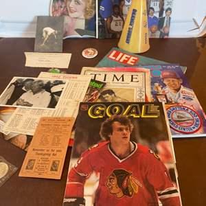 Lot # 114 - Mixture of great sports memorabilia