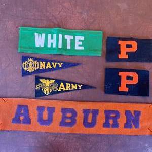 Lot # 119 - Vintage pennants and uniform armbands