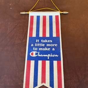 Lot # 120 - Champion brand felt banner