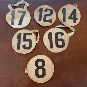 Lot # 124 - Vintage horse racing arm bands