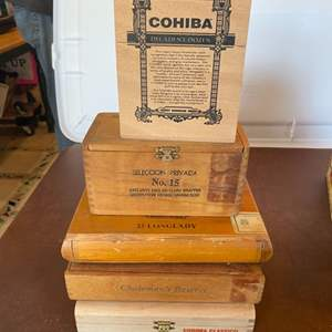 Lot # 128 - Wooden cigar boxes