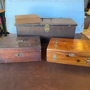 Lot # 131 - Collection of wood boxes