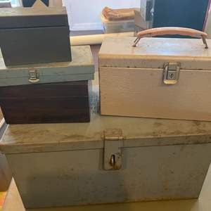 Lot # 132 - Collection of metal boxes