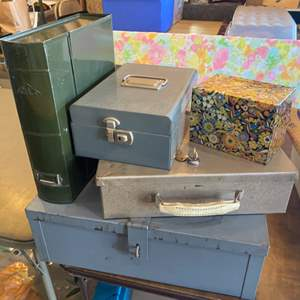 Lot # 133 - Collection of metal boxes