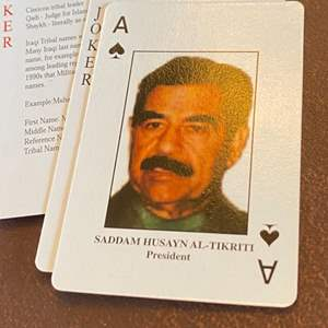 """Lot # 137 - Desert storm """"most wanted"""" deck of cards"""