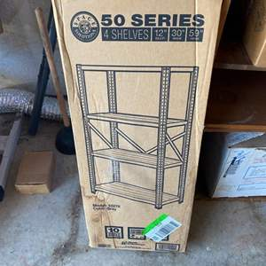 Lot # 172 - Shelving new in box (3 different pieces)