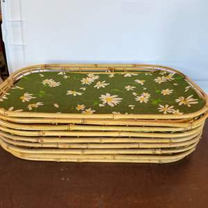 Lot # 178 - Eight bamboo trays
