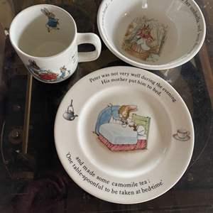 Lot # 196 - Wedgewood Peter rabbit nursery wares