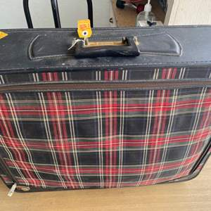 Lot # 200 - Vintage suitcase and vintage clothing