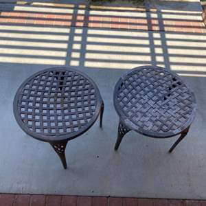 Lot # 18 - Outdoor metal side tables