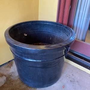 Lot # 27 - Large black ceramic pot