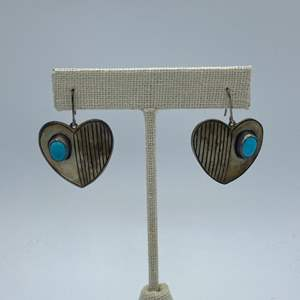 Lot # 5 - Sterling and turquoise earrings (7.4g total weight)