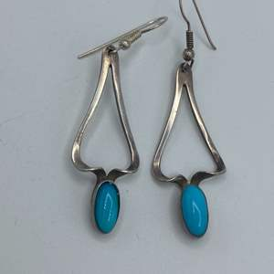 Lot # 14 - Sterling and turquoise earrings (6.3g total weight)