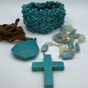 Lot # 22 - Turquoise jewelry
