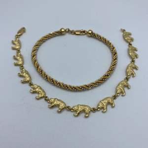Lot # 36 - Two 14 karat gold bracelets (14.2g)