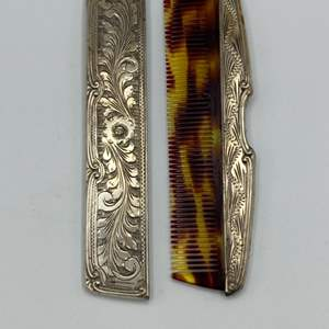 Lot # 5 - Sterling comb with cover