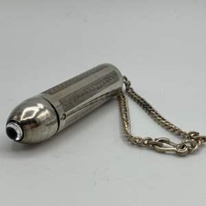 Lot # 7 - Sterling flashlight (9.8g)