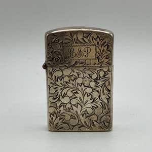 Lot # 12 - Sterling cigarette lighter case (16.9g)