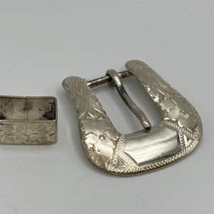 Lot # 14 - Sterling belt buckle (23.9g)