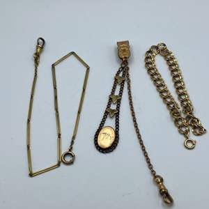 Lot # 73 - Victorian and vintage Gold filled pocket watch fobs