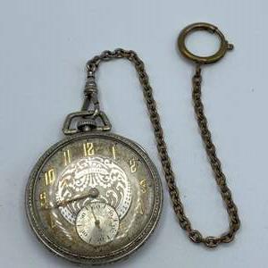 Lot # 76 - Illinois watch company pocket watch 21 Jewels