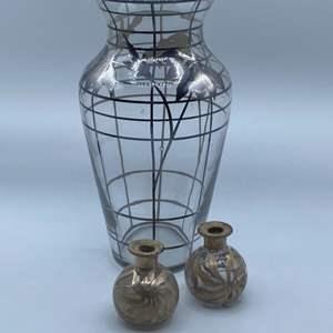 Lot # 81 - Sterling overlay vases