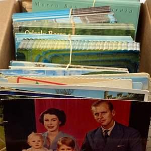 Lot # 96 - Box of vintage postcards
