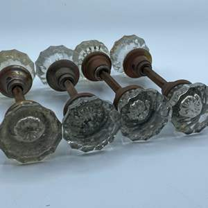 Lot # 101 - Clear glass door knobs sets