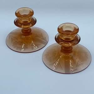 Lot # 115 - Fostoria 1920's candle sticks