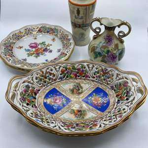 Lot # 120 - Dresden plates and other German pieces