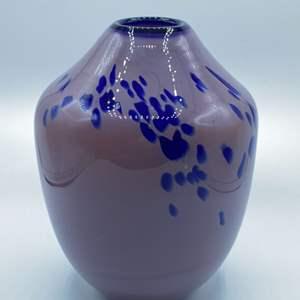 Lot # 123 - Old Pontil plum jade vase