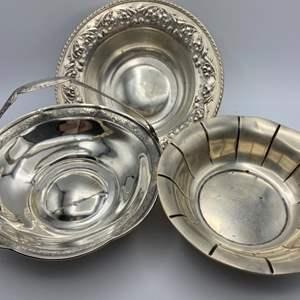 Lot # 137 - Three sterling bowls (235g)