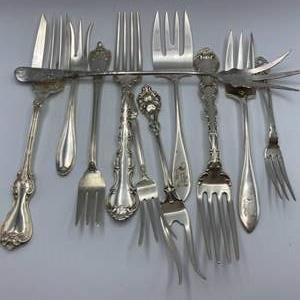 Lot # 147 - Sterling forks (341g)