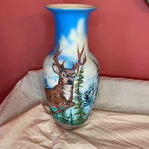 Lot # 185 - Handpainted vase 1994