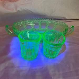 Lot # 190 - Uranium ware items
