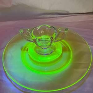 Lot # 191  - Uranium ware plate & ashtray