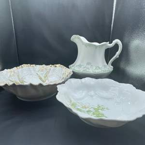 Lot # 207 - Prussia and english serving dishes