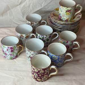 Lot # 211 - Demitasse cups and saucers