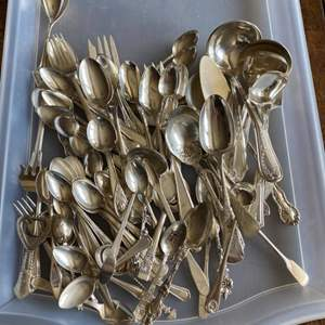 Lot # 224 - Silver plate spoons and forks