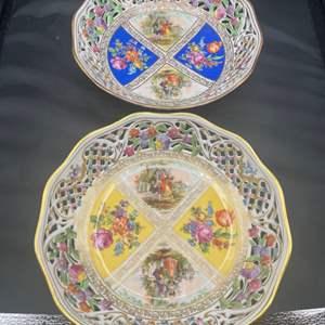 Lot # 226 - Two beautiful German porcelain serving bowls
