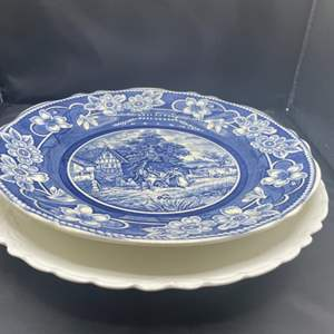 Lot # 227 - Haviland single mark plate & serving plate