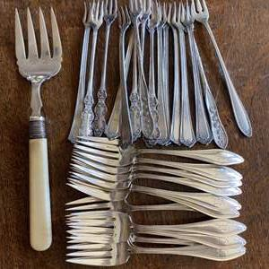 Lot # 232 - Silver plate forks