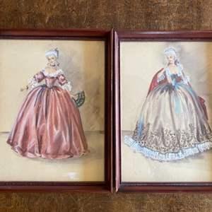 Lot # 243 - Original pastel drawings