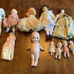 """Lot # 250 - 5"""" Rose O'Neill kewpie doll and other porcelain dolls"""