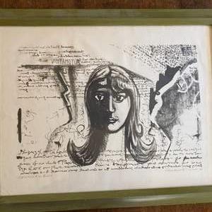 Lot # 256 - Risaburo Kimura signed artist proof lithograph 1963