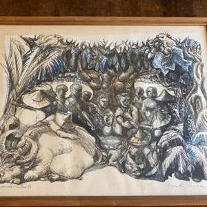 Lot # 258 - Risaburo Kimura signed artist proof lithograph 1963